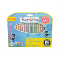 18 flamastrów Paper Mate, pisaki