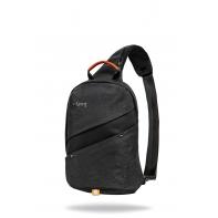 Miejski plecak męski na ramię + USB, Slim Black R-bag