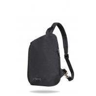 Miejski plecak męski na ramię + USB, Switch Black R-bag