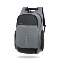 """Plecak męski na laptopa 13-15,6"""" + USB, R-bag Drum Gray"""
