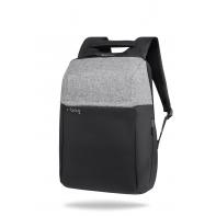 """Plecak męski na laptopa 13-15,6"""" + USB, R-bag Fort Gray"""