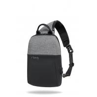 "Plecak męski na tablet 8-12"" + USB, R-bag Magnet Gray"