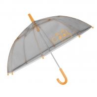 Dziecięca parasolka z odblaskową lamówką, pomarańczowa