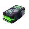 Potrójny piórnik z wyposażeniem Coolpack Jumper 3, Grey Badges B67150