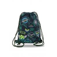 Worek na obuwie Coolpack Sprint, Badges Green B73151