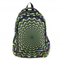 Dwukomorowy plecak szkolny St.Right 27L, HIPNOZA, BP57