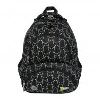 Dwukomorowy plecak szkolny St.Right 24 L, ODBLASKOWE KOTY BP7