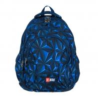 Trzykomorowy plecak szkolny St.Right 29 L, ABSTRAKCJA 3D BP2