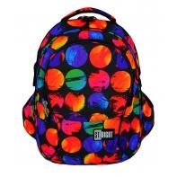 Trzykomorowy plecak szkolny St.Right 29 L, Colorful Dots BP1