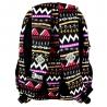 Dwukomorowy plecak szkolny St.Right 26 L, Zig Zag
