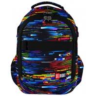 Dwukomorowy plecak szkolny St.Right 27 L, Beta Stripes