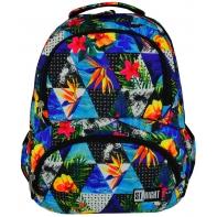 Dwukomorowy plecak szkolny St.Right 24 L, Paradise