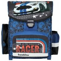 Lekki tornister szkolny dla chłopca BAMBINO AUTO CARS