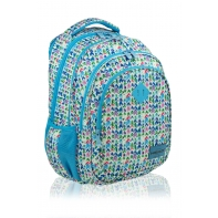Trzykomorowy plecak szkolny młodzieżowy Astra Head, ARROW