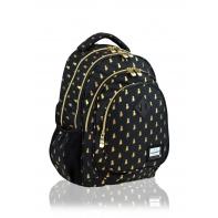Plecak szkolny dziecięcy Astra Head 21L, GOLDEN KITTY