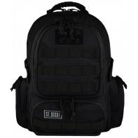Dwukomorowy plecak szkolny St.Right 30 L, MILITARY BLACK BP36