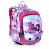 Plecak dwukomorowy dla dziewczynki Topgal ENDY 20002 JEDNOROŻEC