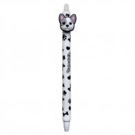 Długopis wymazywalny Colorino BULLDOGS PIESEK, biały
