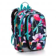 Plecak dwukomorowy dla dziewczynki Topgal MIRA 20007 KWIATY