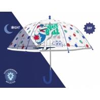 Parasolka dziecięca przezroczysta Perletti z odblaskową lamówką - jednorożec