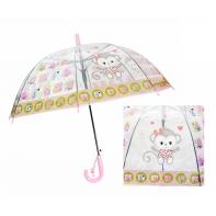 Dziecięca głęboka parasolka z gwizdkiem, zwierzątka