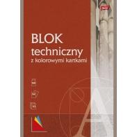 Blok techniczny 10 kolorowych kartek A4 Unipap