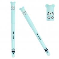Długopis niebieski chomik, ścieralny, wymazywalny, Kidea