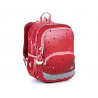 Dwukomorowy plecak Topgal BAZI 21003 G wzór Arbuza + przywieszka