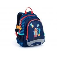 Plecak przedszkolny dla chłopca Topgal SISI 21025 B + przywieszka autobus