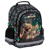 Plecak szkolny dwukomorowy Dinozaury T-REX Derform
