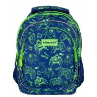 Trzykomorowy plecak szkolny ASTRA HEAD GAMER / Joysticki